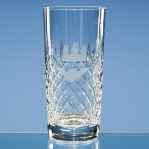 Durham Lead Crystal Panel High Ball Glass