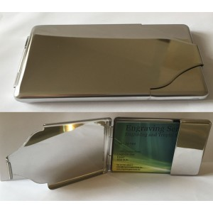 Chrome Business Card Holder 50046