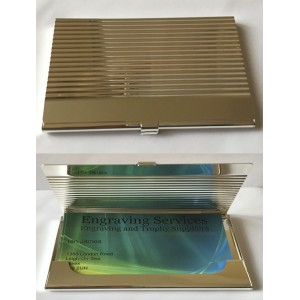Chrome Business Card Holder 76044