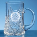 Large Lead Crystal Panel Tankard