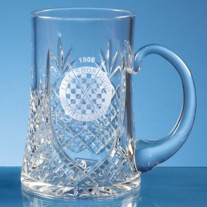 Lead Crystal Panel Tankard .3ltr