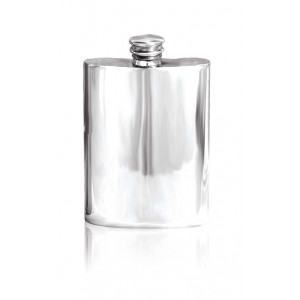 Plain Pewter Hip Flask