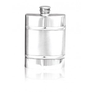Plain Hipflask With Satin Finish Centre Band