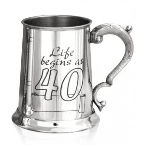 40th Birthday Tankard, Georgian Handle