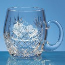 Large Lead Crystal Barrel Tankards