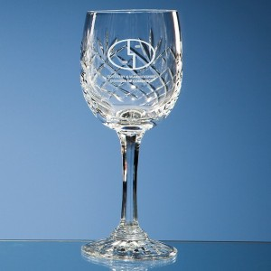 Durham Lead Crystal Panel Goblet 240 ml